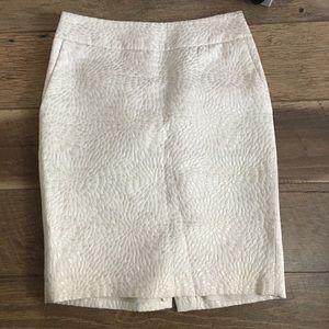 NWOT Ann Taylor pearl pencil pocket skirt size 0